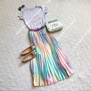 💕HP💕Rainbow Unicorn Mermaid Midi Skirt